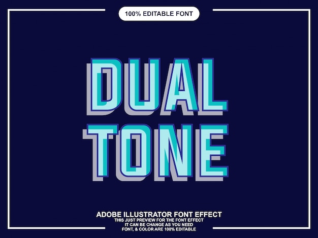 Modern double editable typography graphic style