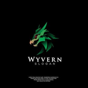 Modern dragon logo