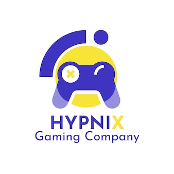 Modern duotone hypnix gaming logo