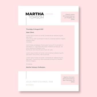 현대 이중 톤 라이트 핑크 마사 편지 템플릿