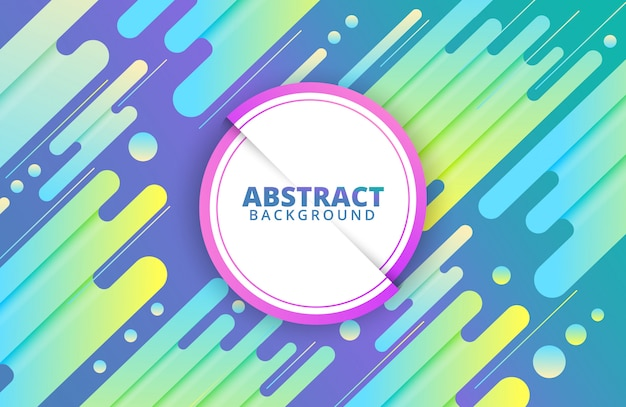 Modern dynamic background with abstract shapes composition