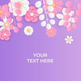 Современный динамический шаблон сообщения instagram в стиле вырезки из бумаги. пост в социальных сетях или шаблон баннера в свежем спокойном цвете