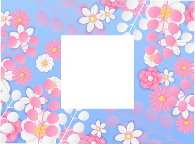 종이 컷 스타일의 현대적인 동적 인스타그램 포스트 템플릿. 신선하고 차분한 색상의 소셜 미디어 게시물 또는 배너 템플릿