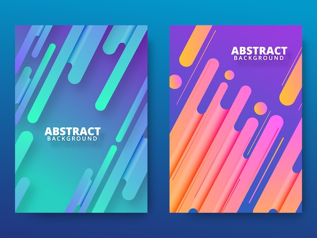 Modern dynamic shape background with cool gradient