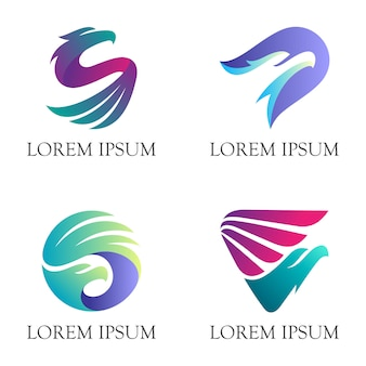 Modern eagle animal logo