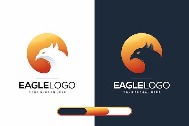 Современный орел логотип назн
