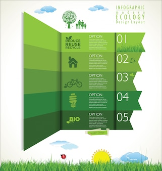 Modern ecology green background