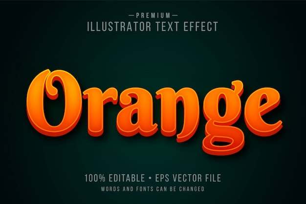 Современный редактируемый текстовый эффект 3d или графический стиль с ярко-красным оранжевым градиентом огня над темным фоном