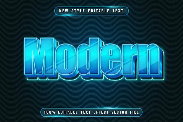 Modern editable text effect modern neon style