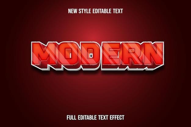 Modern editable text effect