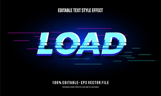 Modern editable text style effect. editable font style.