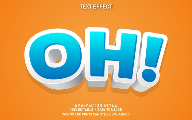 Modern editable text style effect oh