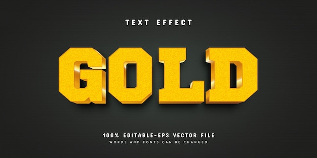 モダンな編集可能なテキストスタイルのゴールド効果と光沢のあるキラキラ編集可能なフォントスタイルプレミアムベクター