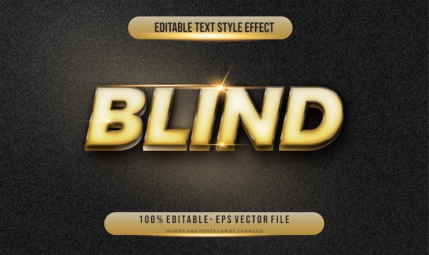 Modern editable text style gold effect  . editable font style.