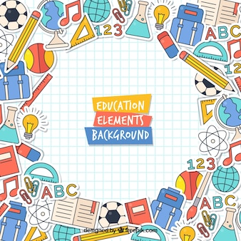 Modern education concept background Premium Vector