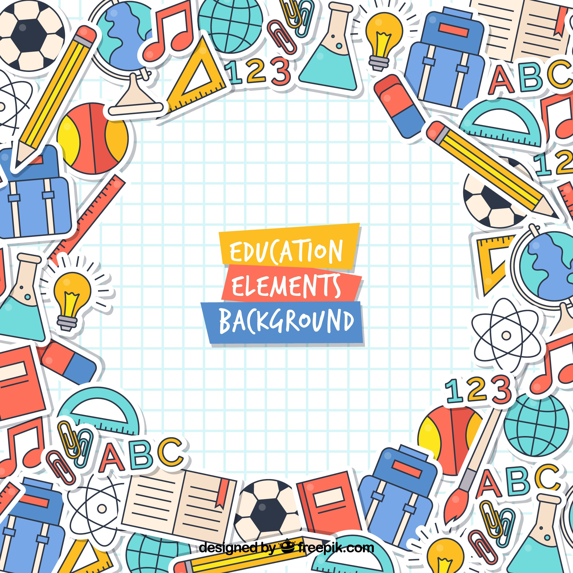 Modern education concept background