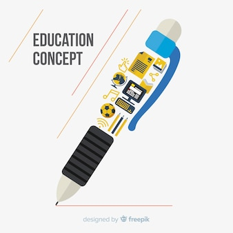 Modern education concept with flat design