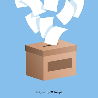 Modern election box with flat design