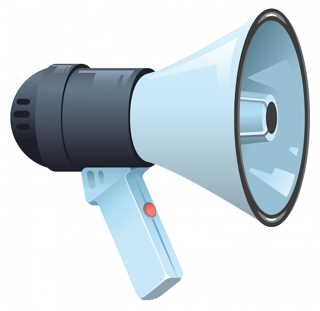 Modern electric horn speaker megaphone