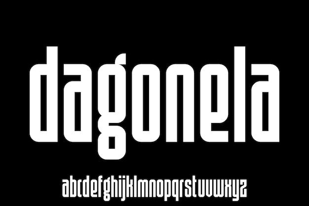 Modern and elegant alphabet font vector