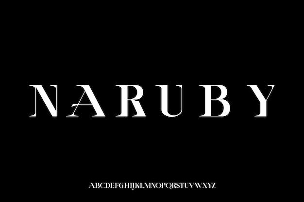Modern elegant alphabet font