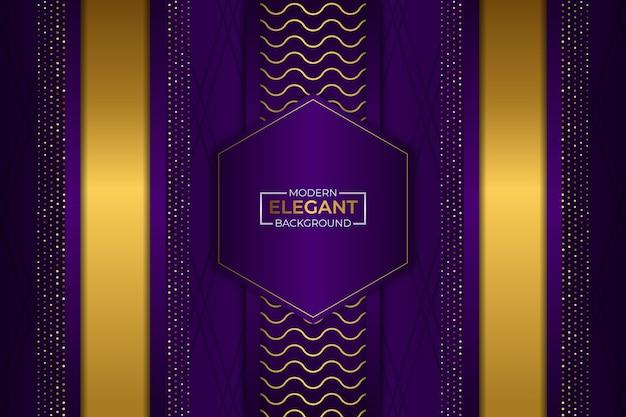 モダンでエレガントな背景紫とキラキラとゴールド