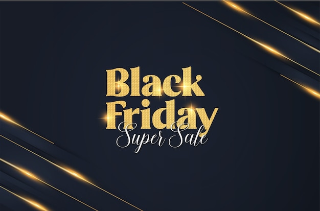 Modern elegant black friday banner with abstract banner background