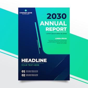 Современный элегантный синий годовой отчет дизайн премиум шаблон