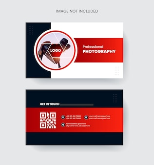 Modern and elegant business card design colorful abstract concept in red and black color photography
