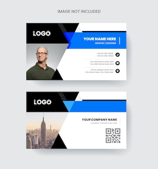 Modern and elegant business card design colorful abstract shapeable concept
