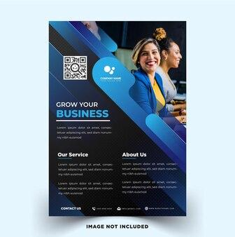 Modern elegant business flyer vector template