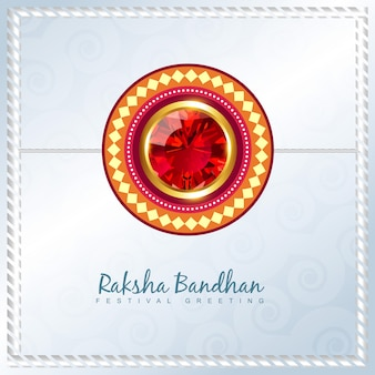 Modern elegant design for raksha bandhan