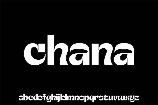 Modern and elegant font alphabet typeset