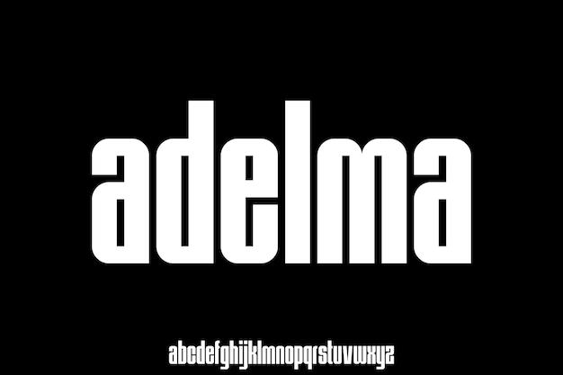 Modern and elegant font vector set