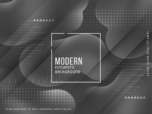 Modern elegant grey color liquid background