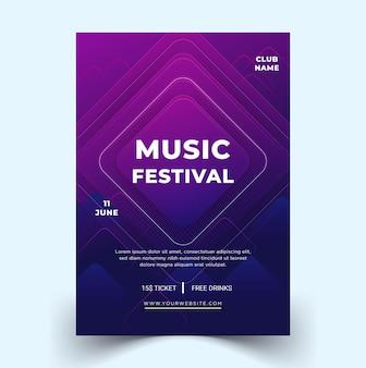 Modern elegant music festival poster vector template