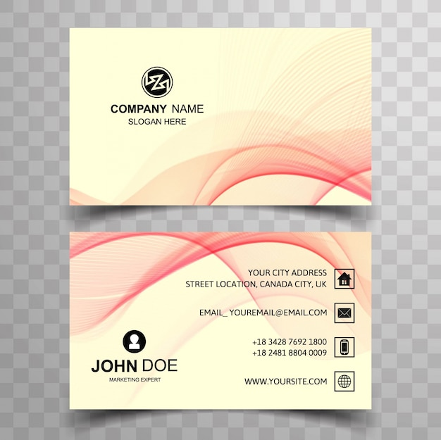 Modern elegant wavy business card