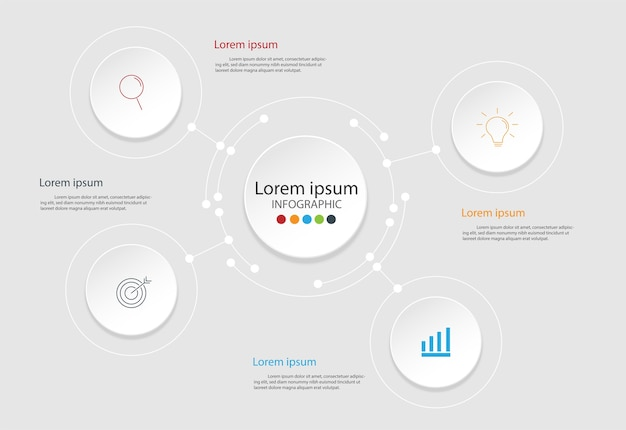 Modern elements for business and communication technology concept