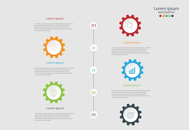 Modern elements for business multicolor infographics.