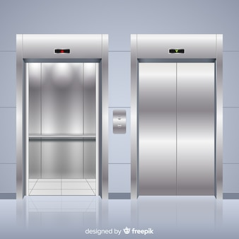 Modern elevator with realistic design