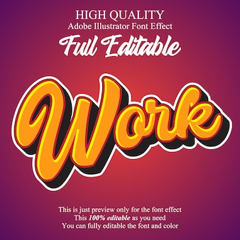 Modern emboss script editable typography font effect
