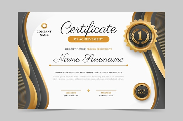 Modern employee of the month certificate