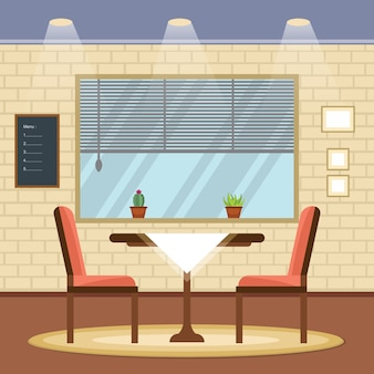 Modern empty cafe restaurant