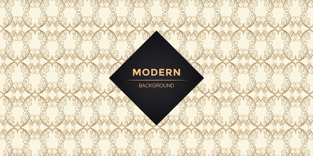 Modern european seamless pattern