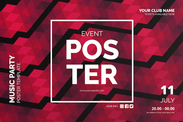 Modern event poster with abstract background