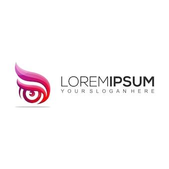 Modern eye logo design template