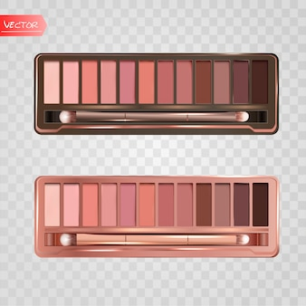 Modern eye shadow palette set.