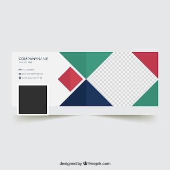 Modern facebook cover in flat design