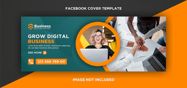Modern facebook cover template