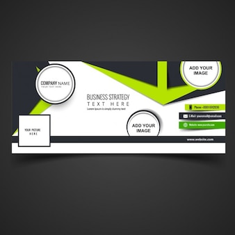 Modern facebook cover with abstract shapes